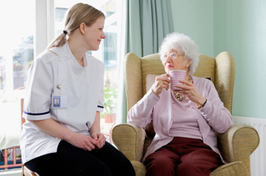 Home Care : Picture of care assistant with lady